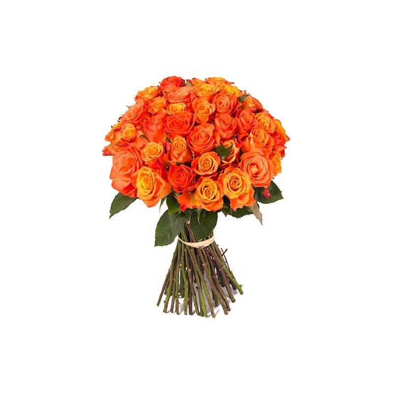 brassee de roses orange hibiscus fleurs livraison sur nantes et son agglom ration 44. Black Bedroom Furniture Sets. Home Design Ideas