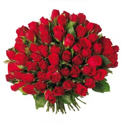 BOUQUET ROND 100 ROSES ROUGE OU ROSE