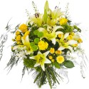 BOUQUET LONGUES TIGES AGRUME  JAUNE