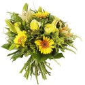 BOUQUET ROND DELICATESSE JAUNE
