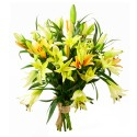 BOUQUET LYS JAUNE ORANGE