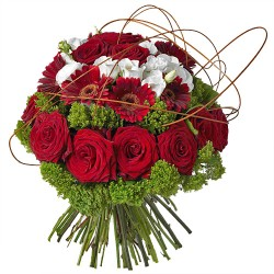 BOUQUET ROND LUXE ROUGE