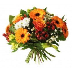 BOUQUET ROND ALEGRIA ORANGE