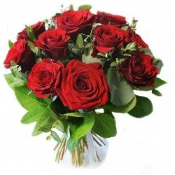 BOUQUET ROND ROSES ROUGE LOVE
