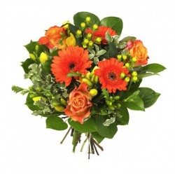 BOUQUET ROND ORANGE