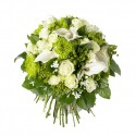 BOUQUET ROND LUXE BLANC