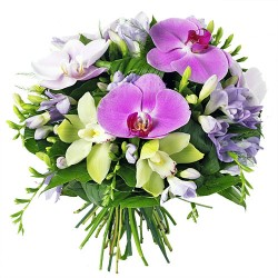 BOUQUET ROND ORCHIDEE NEPTUNE